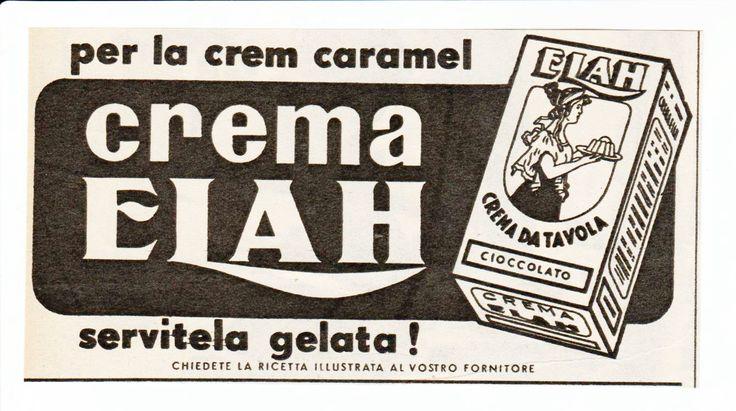 Pubblicita d'epoca Old advertising Vecchia crema da tavola crem caramel Elah | eBay
