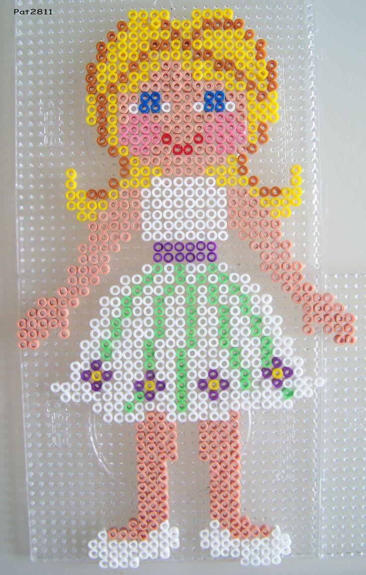 Blonde 2 ballerina -- perler beads