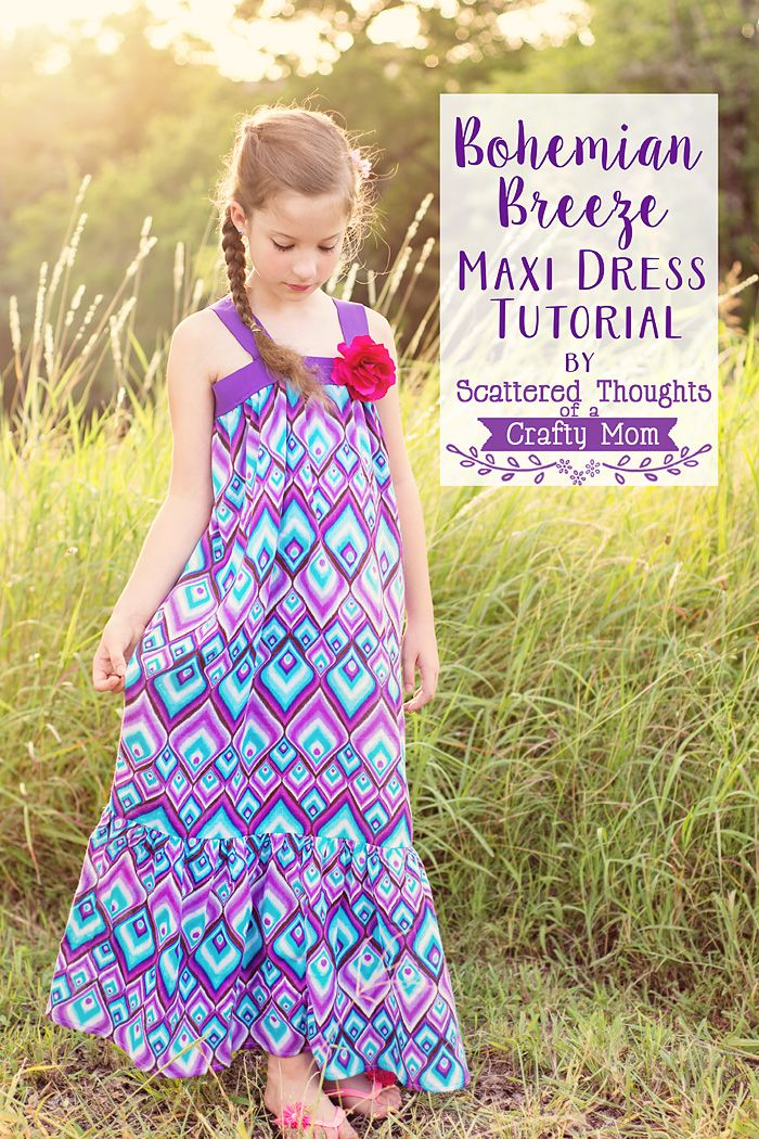 Learn how to sew a maxi dress with this super simple tutorial! There is no pattern to cut out- just elastic and rectangles (can't get any easier than that.)