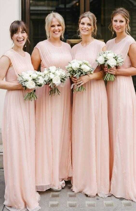 fall bridal party pictures%0A long pink bridesmaid dresses  elegant long bridesmaid dresses        bridesmaid gowns