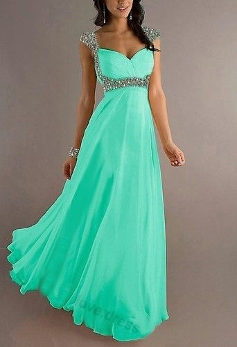 Chiffon Cap Sleeve Formal Prom Party Bridesmaid Evening Dres