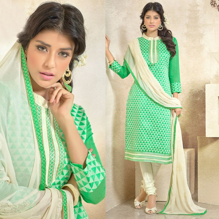 Salwar Kameez: Styled as straight suit with off white dupatta. perfect for casual wear.