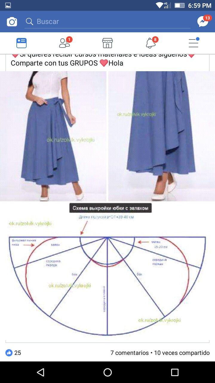 Pin de Chus Cuenca en faldas   Pinterest   Patrones de costura ...