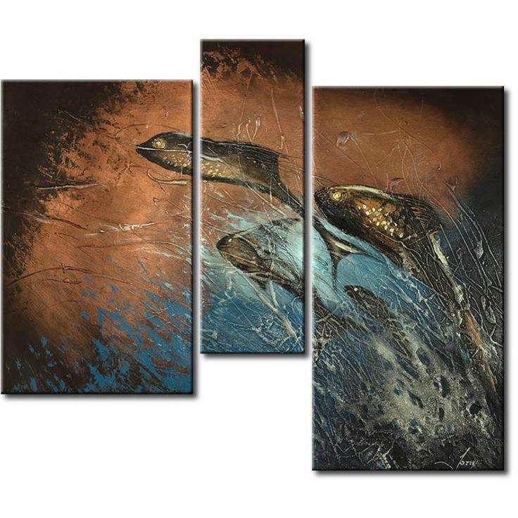 Cuadro Profundidad oscura #cuadro #cuadros #fotos sobre lienzo #fotos #sobre #lienzo #peces