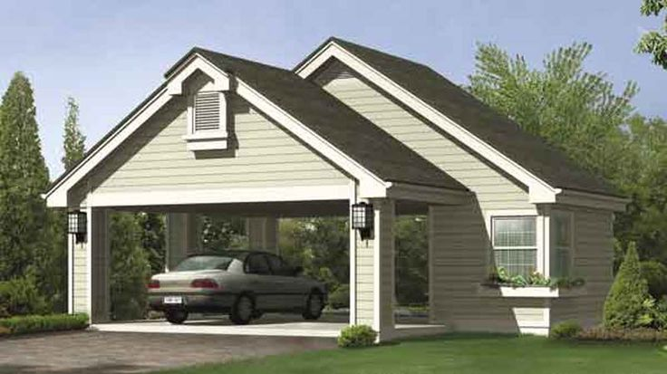 25 best attached carport ideas on pinterest patio roof for 3 car attached garage plans
