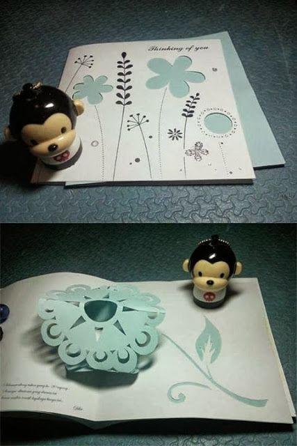snappopup: pop up card: flower
