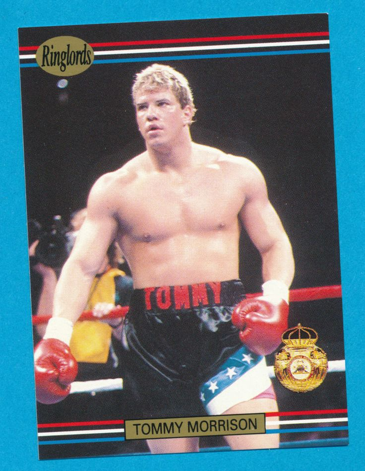 Tommy Morrison boxer boxing 1991 Ringlords trading card #9