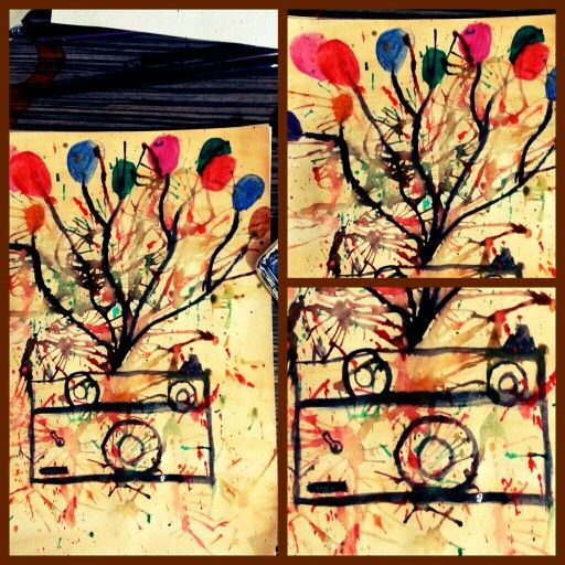 #balloons #camera #watercolor #photography #balloon #dream