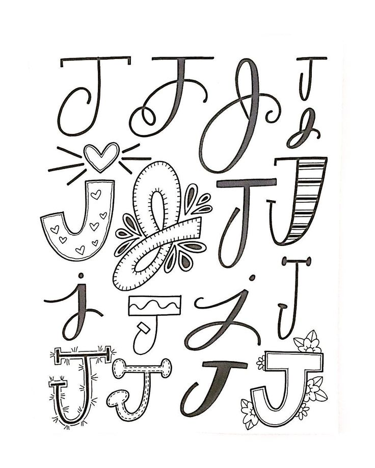 "437 Me gusta, 3 comentarios - Jessie Arnold (@mrs.arnoldsartroom) en Instagram: ""Letter J- my favorite! #handletteredabcs #handletteredabcs_2017 #abcs_j #lettering…"""