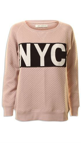 Sofie Schnoor - S171217 - Rosa blød NYC sweat - GOT TO HAVE IT Webshop - Nyt, Unikt og Utraditionelt Designertøj