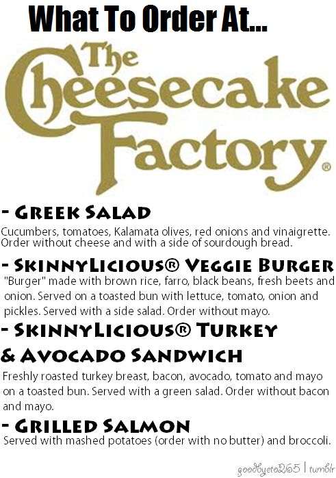 FITCLUB - What to order at The Cheesecake Factory