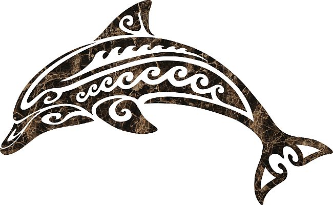 tribal dolphin | 3567 Tribal Dolphin Emperador