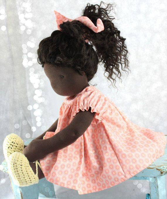 16-18 inch Slim Waldorf Doll Dress by reggiesdolls on Etsy