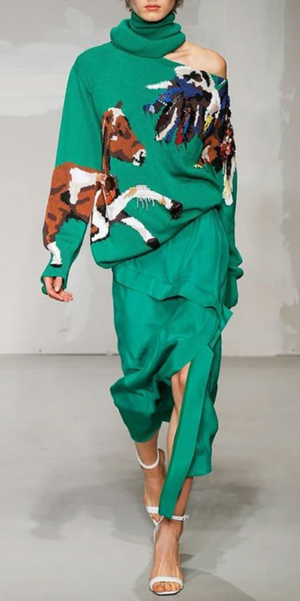 Green Fashion Sweater