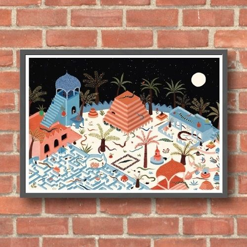 Lara Hawthorne - Snake Palace, giclee print