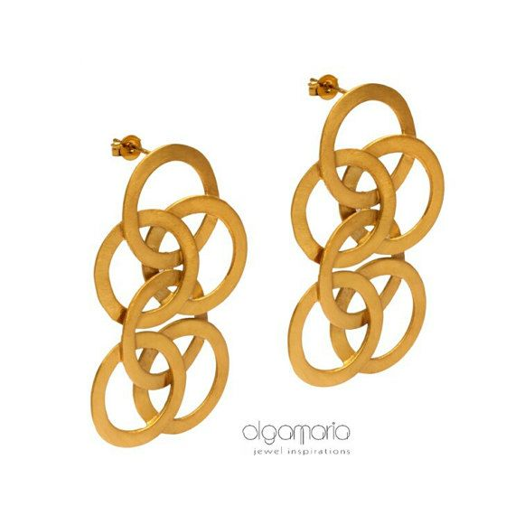 """Statement Earrings """"Human Chain"""" Collection by JewelInspirations"""
