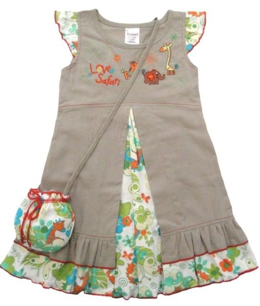 100% Fair trade cotton dress with matching bag. A Perfect edition to you little girls wardrobe.