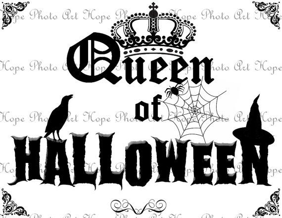 Queen of Halloween Digital Collage Sheet Image by HopePhotoArt