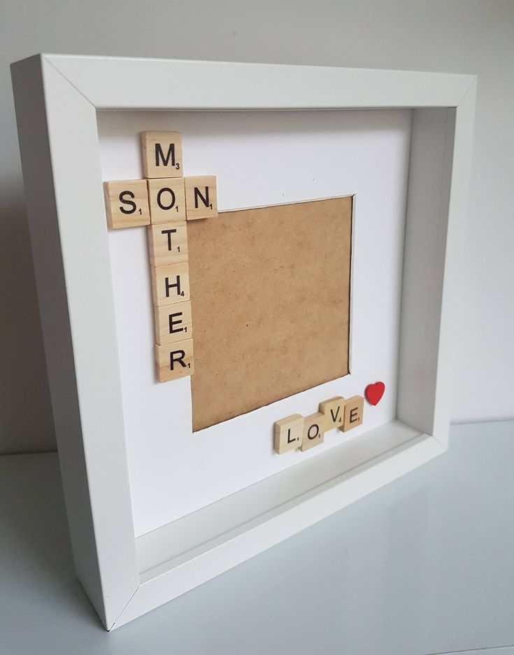 Mother and son frame, mother and son, keepsake frame,mothersday gift , gift for mum, mum's birthday, gift from son, momson photo, box frame by FrameitUnitedKingdom on Etsy