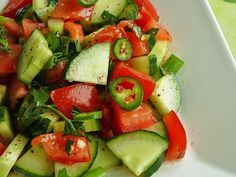 Çoban Salatası (Turkish Shepherd Salad) - I ate this every day in Turkey. You can't get tired of it.