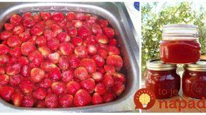 Najlepší jahodový džem podľa rokmi overeného receptu: Bez želírovacieho cukru!