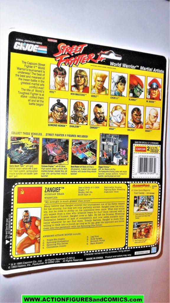 Gi Joe Street Fighter Ii Zangief 1993 Capcom 2 Gijoe Action Figure