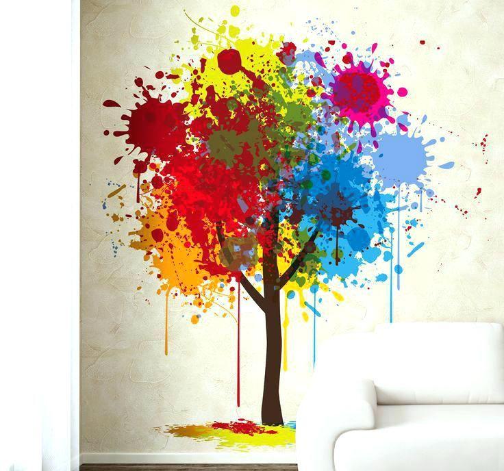 C Red Splat Art Print Home Decor Wall Art Poster