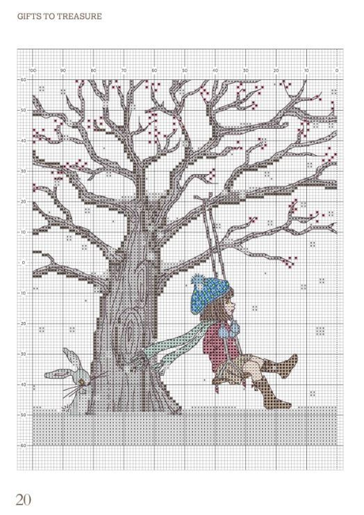 Winter swing cross stitch 1