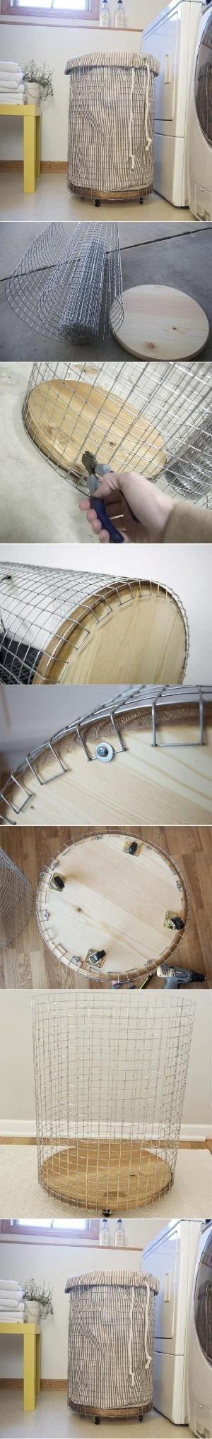 DIY Easy Laundry Basket by fennirose