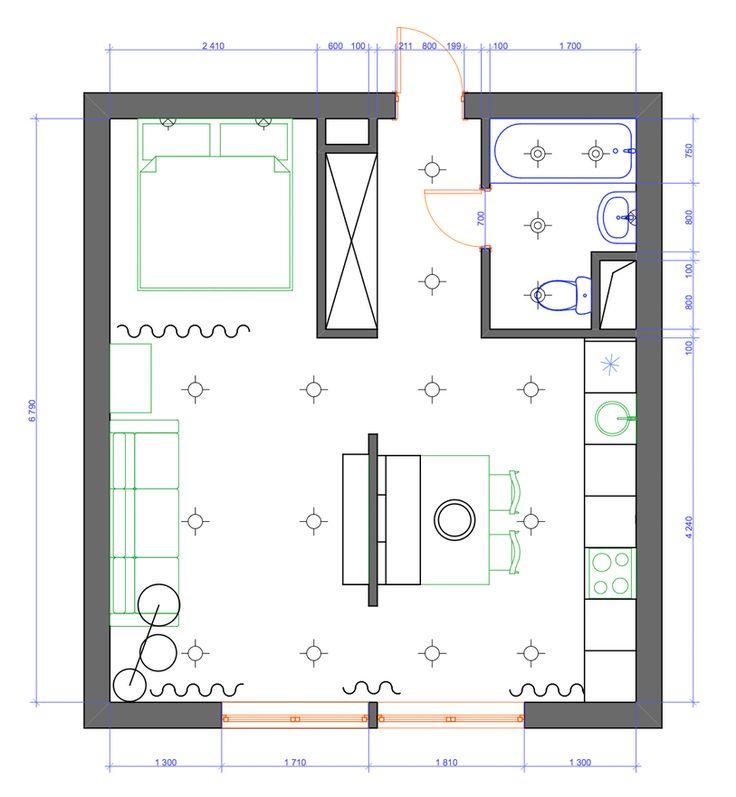 Дизайн небольшой современной квартиры 30 квадратных метров -1
