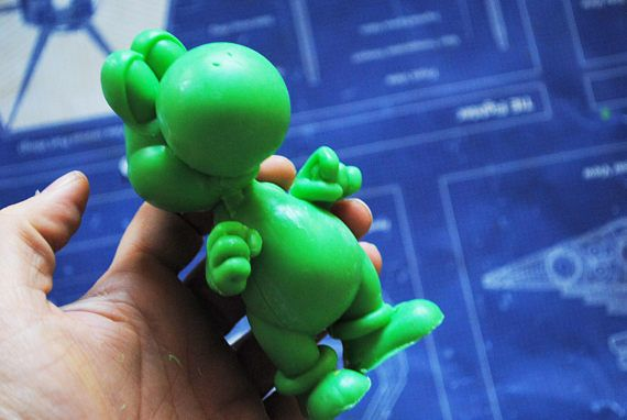 Crafted Yoshi Soap Super Mario game geek soap