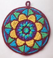 MAY PURCHASE PATTERN ~ Ravelry: Stained Glass Mandala Potholder pattern by Lilla Björn Crochet