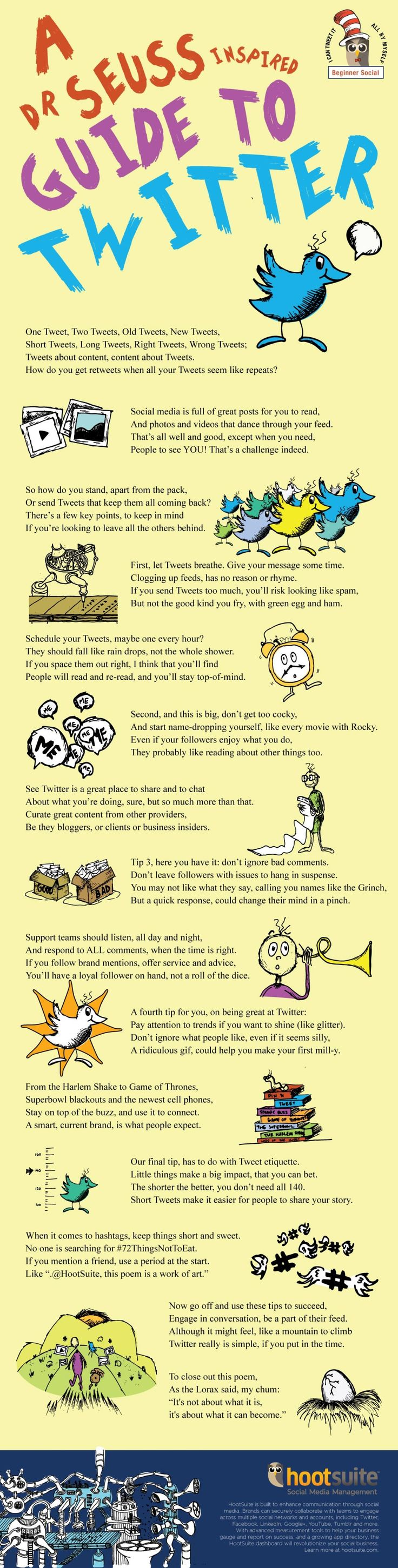 A Dr. Seuss-Inspired Guide to #Twitter #seuss [#infographic]