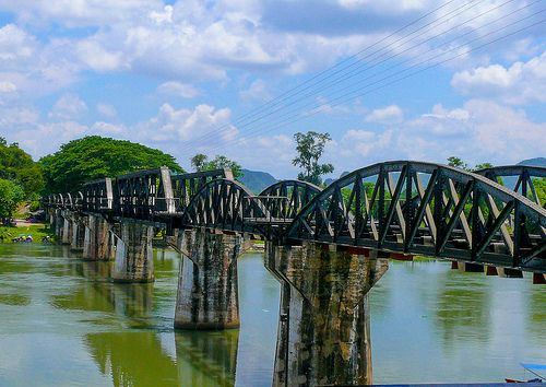 The Famous Bridge On The River Kwai