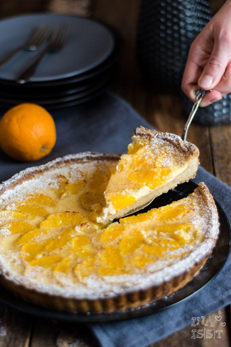 Orangentarte, Orange tart, Vanillecreme, Vanilletarte; Ina Is(s)t, Ina Isst