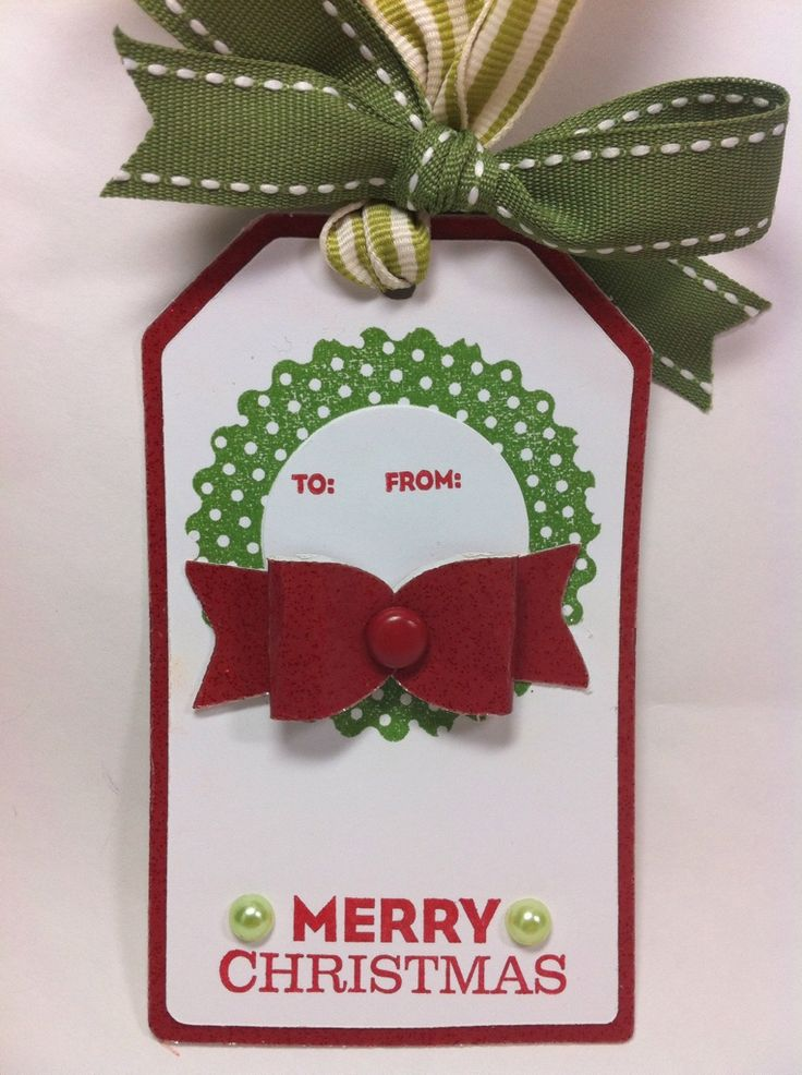 Courtney Lane Designs: Easy gift tags made using the Teresa Collins Christmas Sentiments cartridge and the Artiste cartridge.