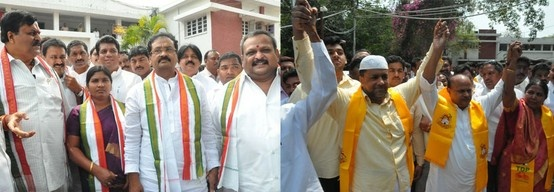 All the 10 nominees who entered the fray in the elections to the State Legislative Council in the MLA quota were elected unopposed. The Congress got five of its nominees, the Telugu Desam Party three and .....   http://www.frontpageindia.com/elections/congress-chickens-out-mlcs-parties-elected-unopposed/50887