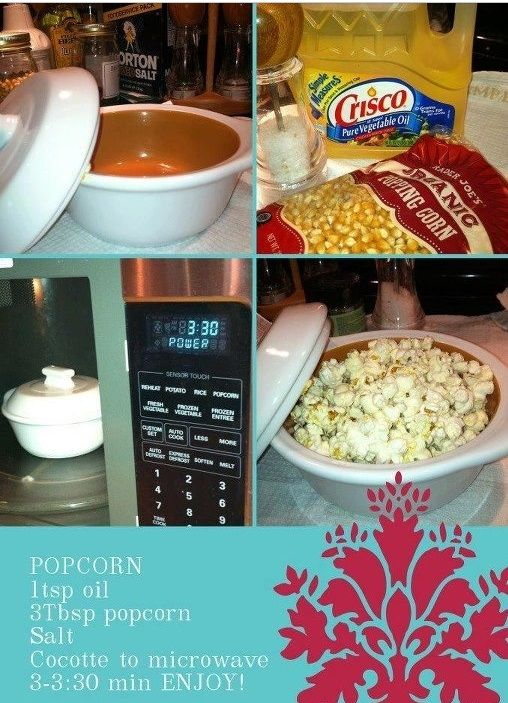 Single Serving Hot Popcorn in Pampered Chef® Garlic Brie Baker http://www.pamperedchef.com/pws/nhkateskitchen/shop/Dining+%26+Entertaining/Garlic+%26+Brie+Baker/1369