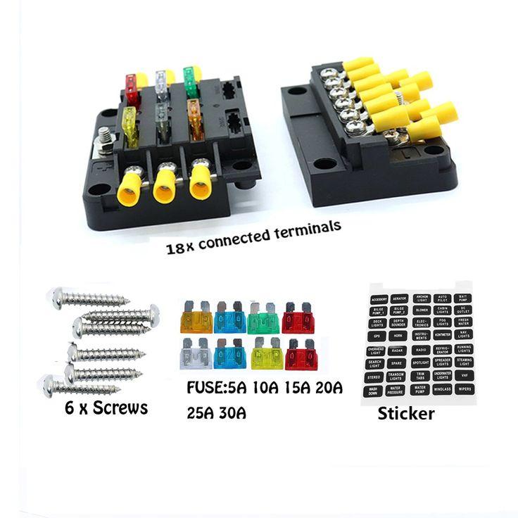 Blade fuse block box holder 6 circuits atp and negative
