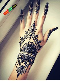 Following is the best Pakistani traditional Mehndi designs by using black henna with a detailed drawing of followers, which help beginners to copy it with ease.