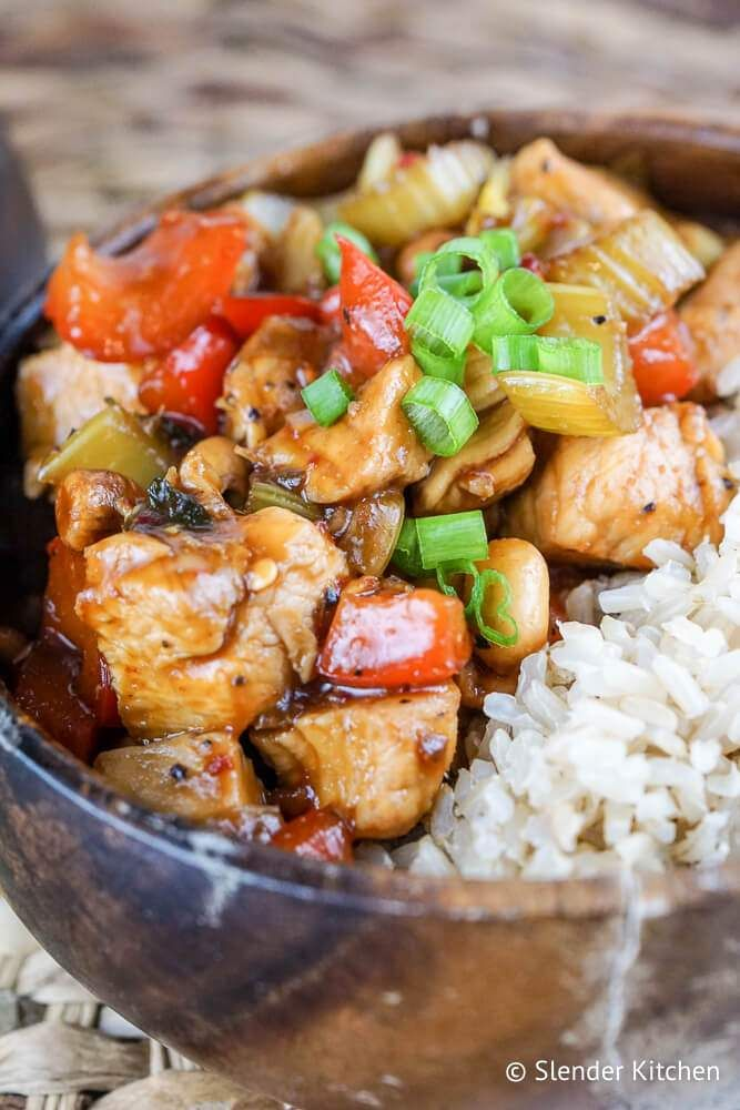 Healthy Kung Pao Chicken Recipe Asian Dishes Indian Chinese