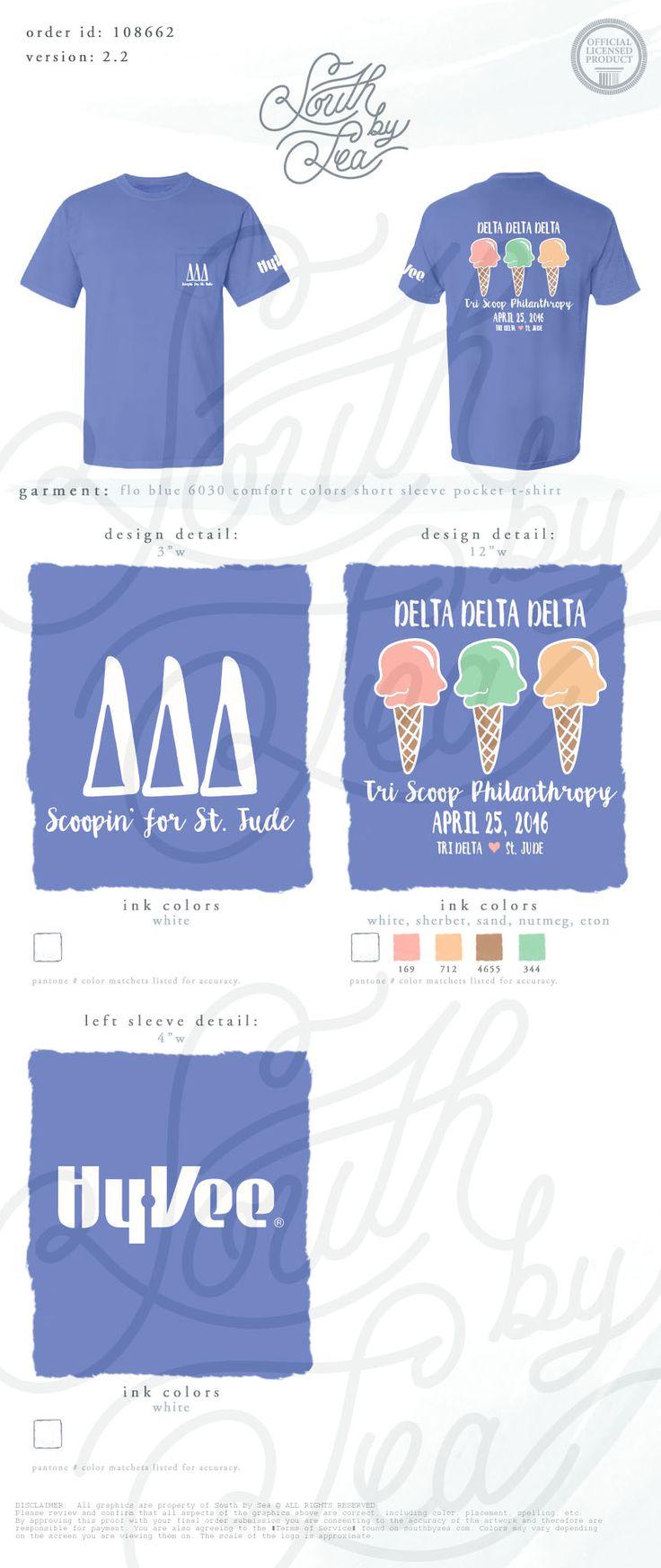 Delta Delta Delta | Tri Delta | Tri Scoop Philanthropy | Scoopin For St. Jude | South by Sea | Greek Tee Shirts | Greek Tank Tops | Custom Apparel Design | Custom Greek Apparel | Sorority Tee Shirts | Sorority Tanks | Sorority Shirt Designs