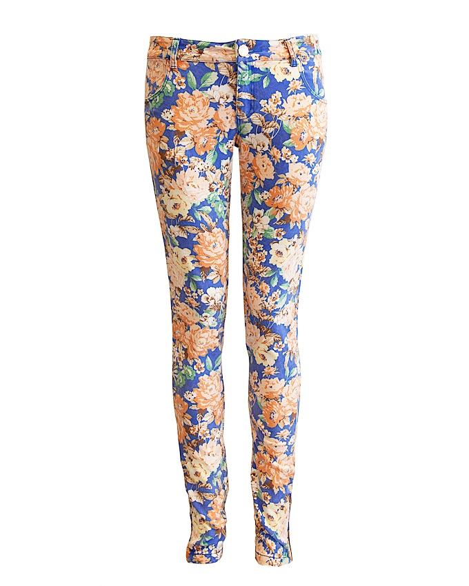 Flower kobalt jeans