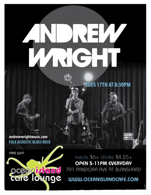 Andrew Wright, a great performer who frequents the OI Cafe Lounge.