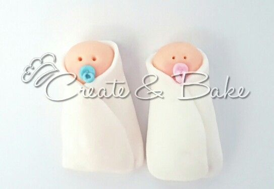 Fondant babies toppers .baby showers. Cake creating in Cape Town, South Africa. www.createandbake.co.za
