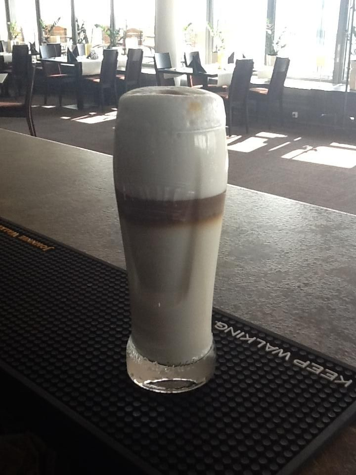 What a delicious cafe latte prepared by our bartender, Andriej! There is not enough coffee for a day like today if you need hyperenergy to work!  Follow us on Facebook:  https://www.facebook.com/restauracjavidok www.restauracjavidok.pl