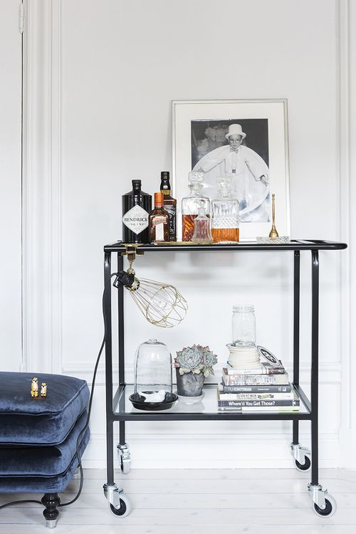 bar cart styling   photo by therese winberg