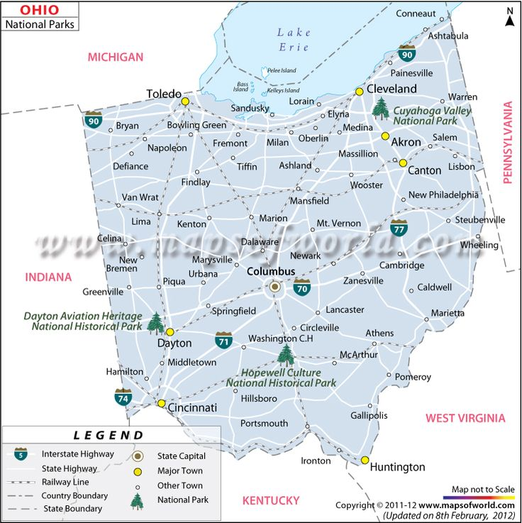 Best Usa National Parks Images On Pinterest National Parks - Ohio on the map of usa