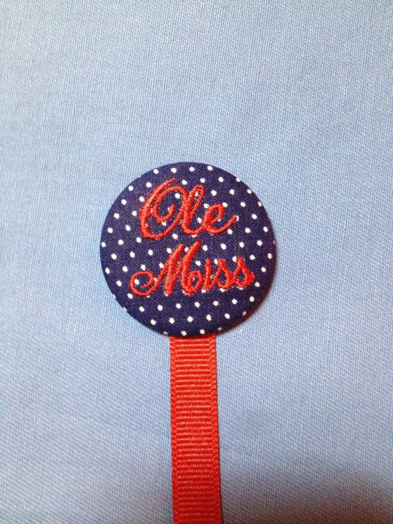 Are you Ready for Ole Miss Football Pacifier Clip by BaBeeBops, $12.00