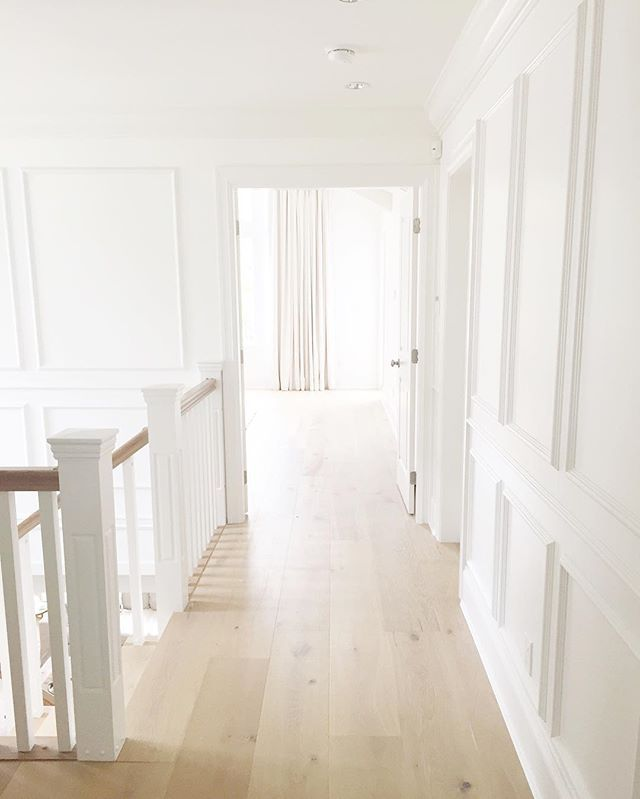 Hardwood Floors Plank Benjamin Moore Simply White Wood